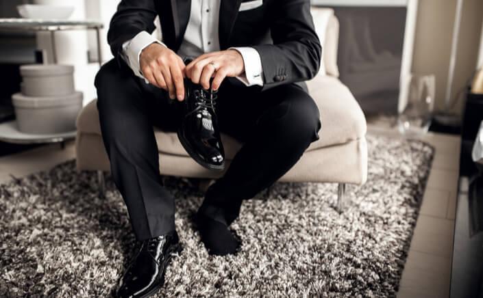 black shoes for black tie event