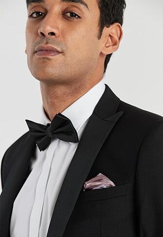 black tie suit jacket