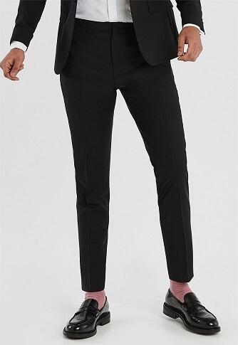 black tie suit trousers