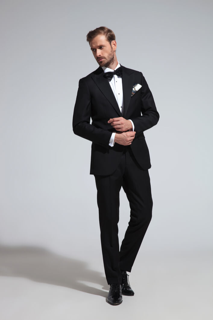 man ready for a black tie event