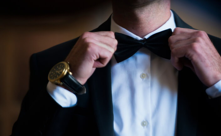 black tie bow tie