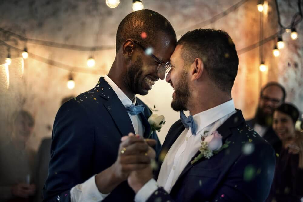 gay male couple getting married