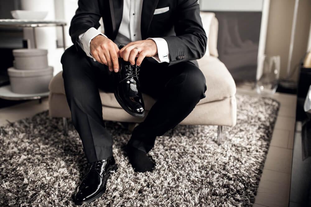 black tie men's wedding shoes
