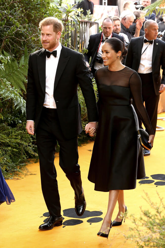 prince harry and meghan lion king premiere