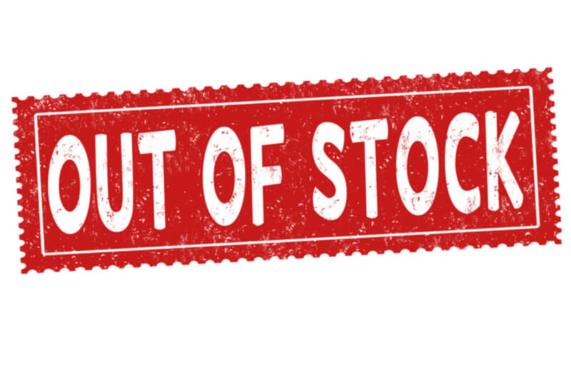 Out of stock lines