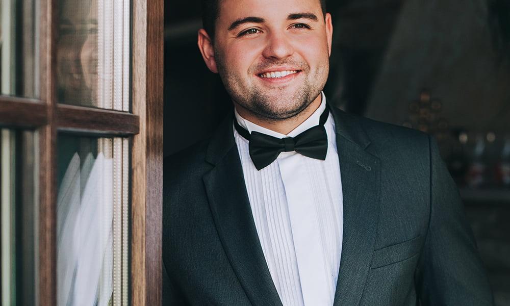 Men's tuxedo styles for a black tie wedding