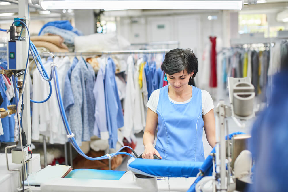 dry cleaning process
