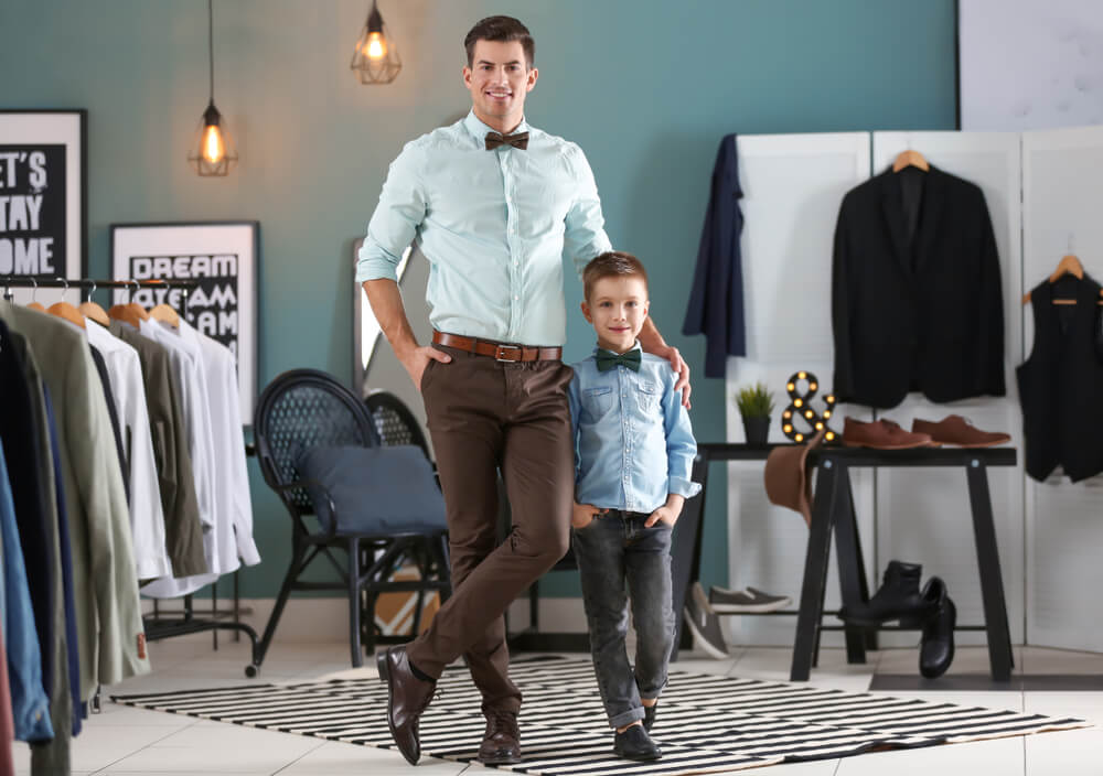 dad and kid suiting