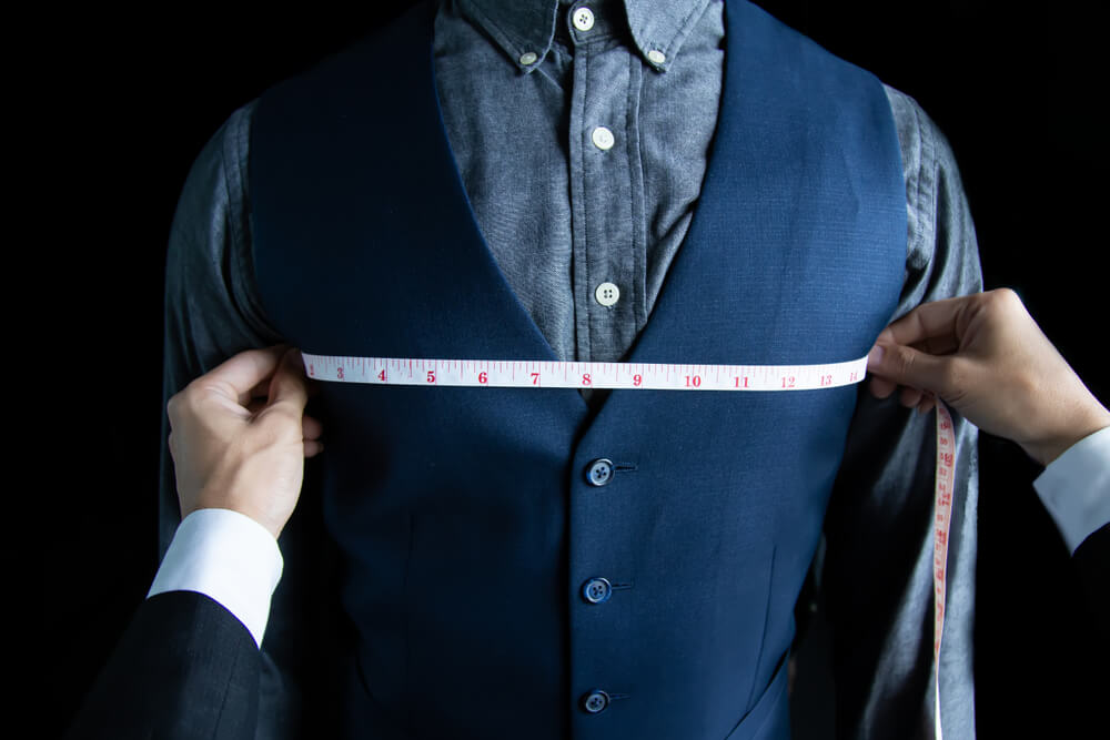 how to measure chest for mens suit