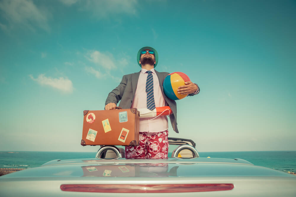 holidays with mens suit abroad