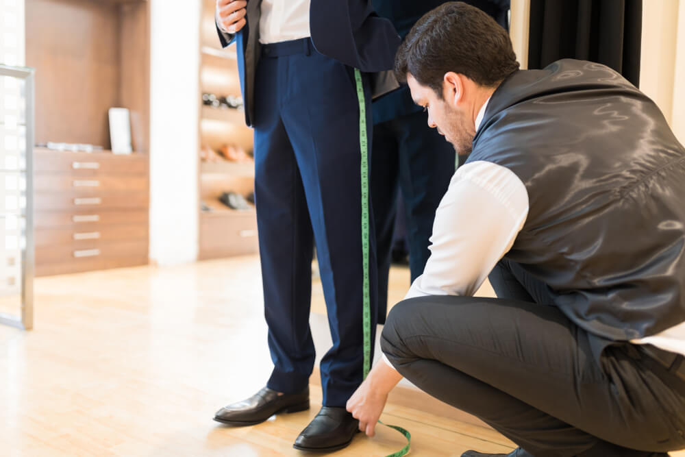 how to measure trouser for mens suit