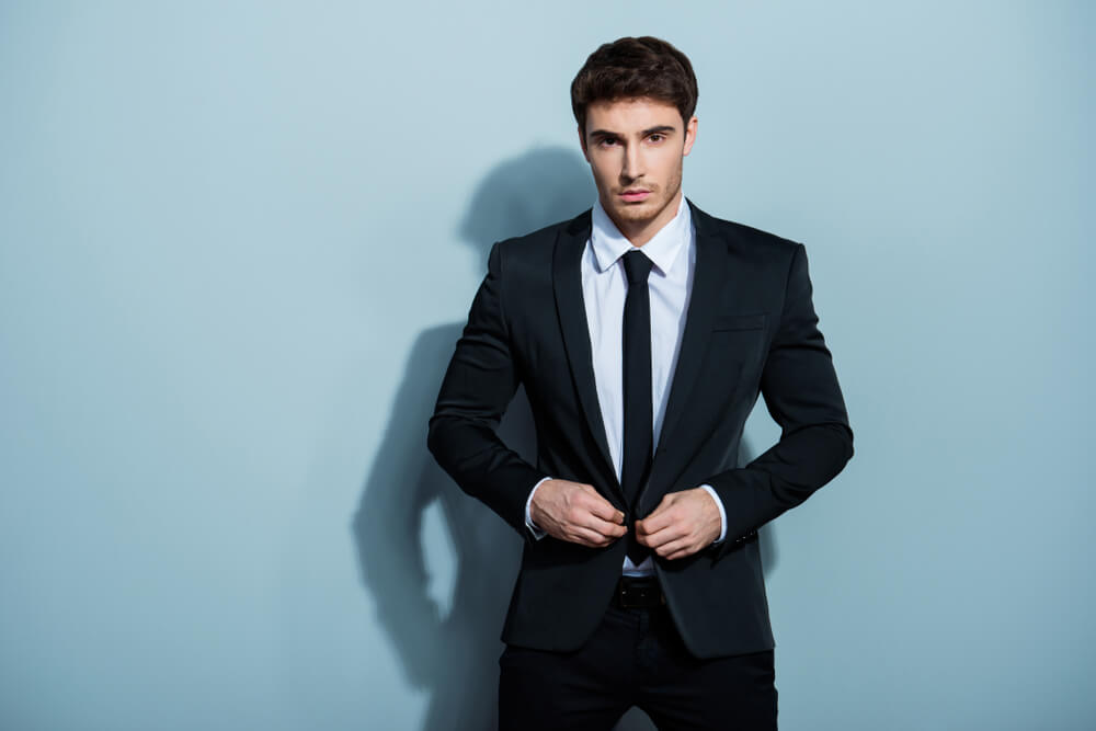 overdressed man with suit