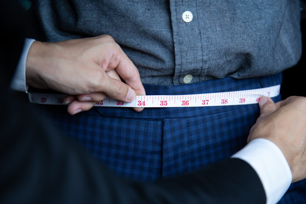 how to measure waist for mens suit