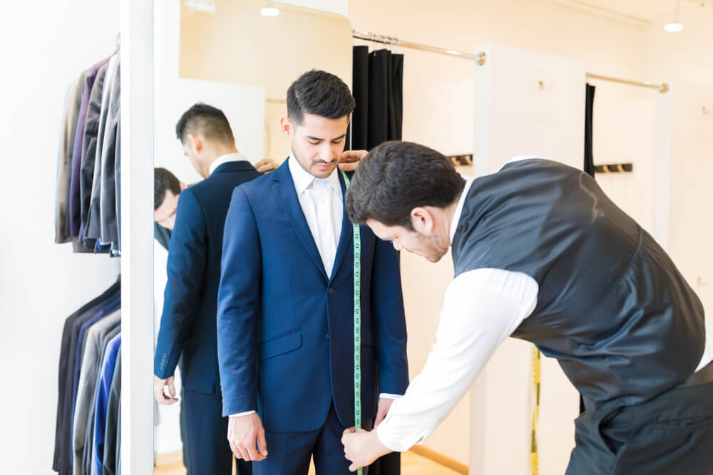 how to measure jacket for mens suit