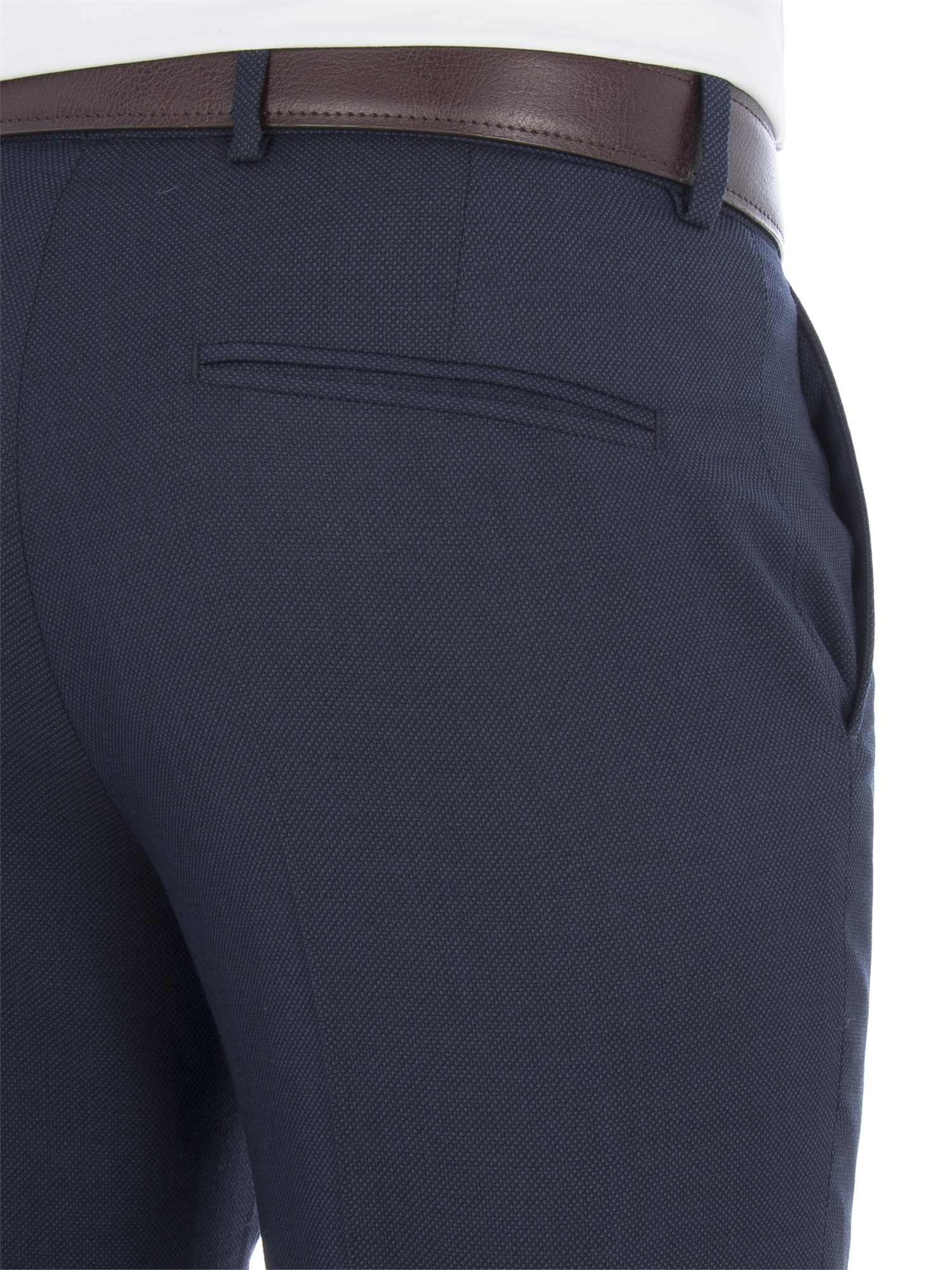 online here buying now another chance Navy Birdseye Regular Fit Trousers