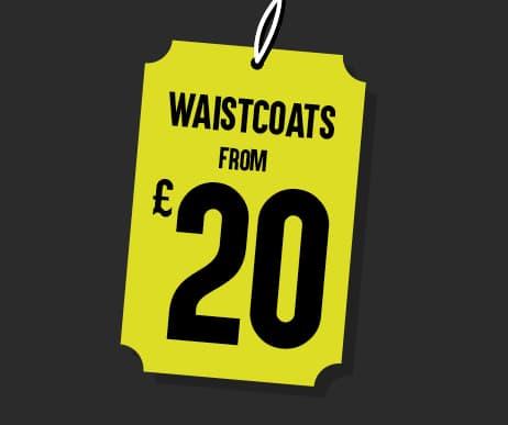 Black Friday Waistcoats from £20