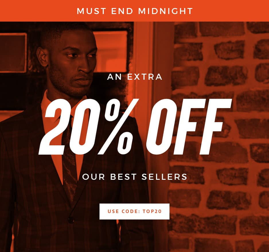 An Extra 20% Off Our Best Selling Suits & Blazers