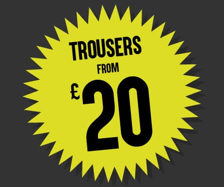Black Friday Trousers from £20