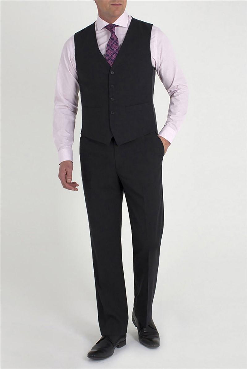 Charcoal Plain Black Label Travel Waistcoat
