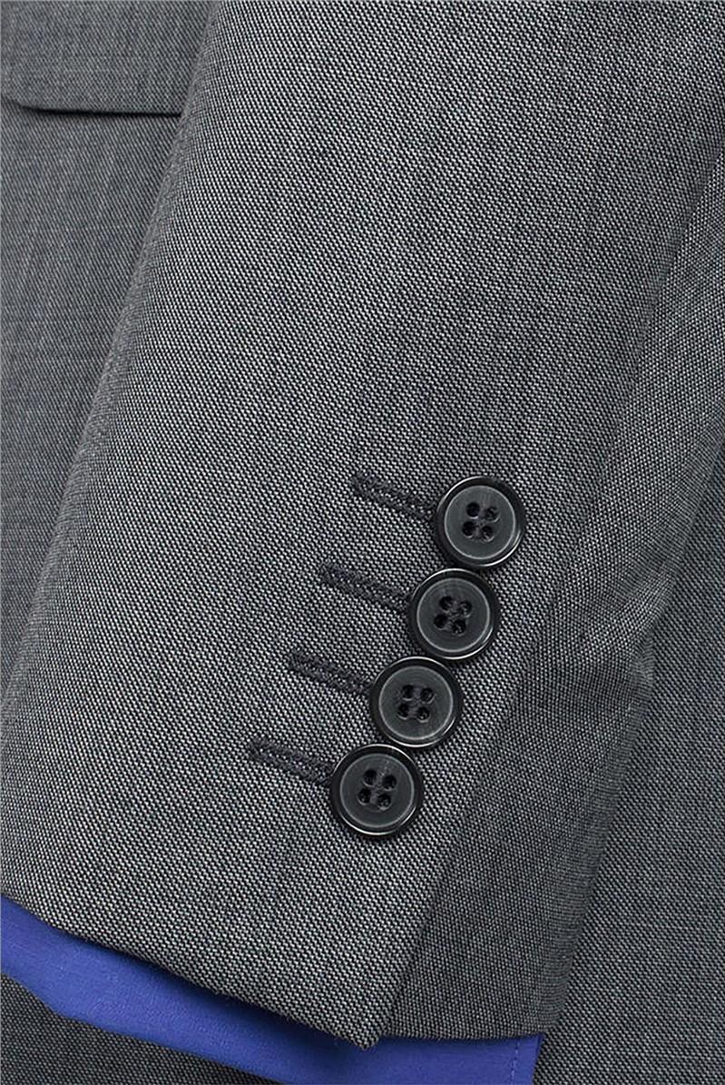Grey Pick and Pick Black Label Waistcoat