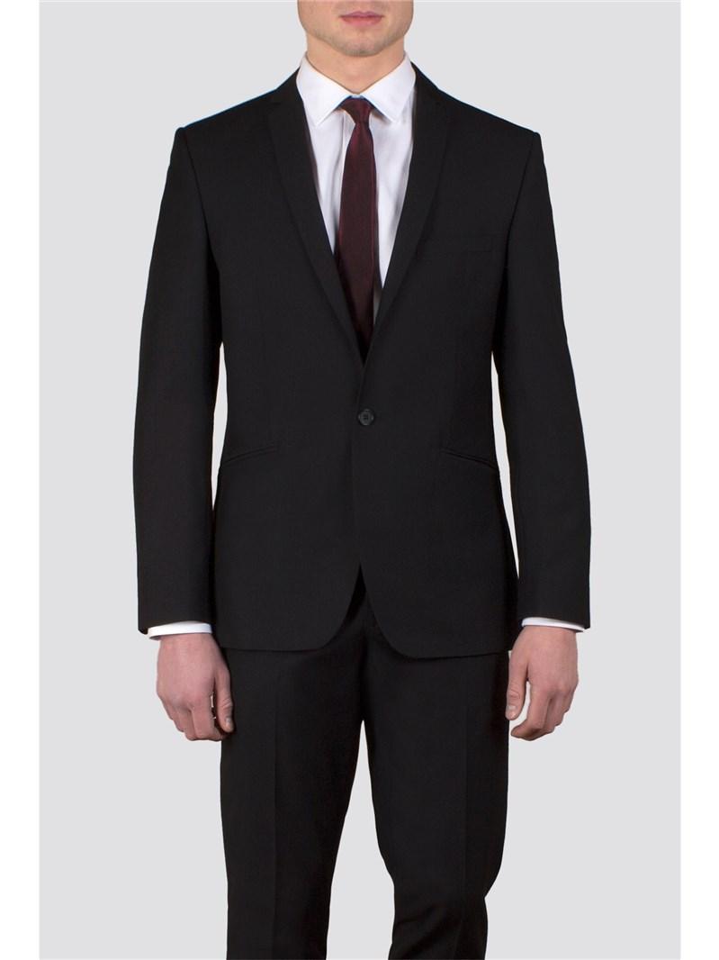 Black Twill Slim Fit Suit