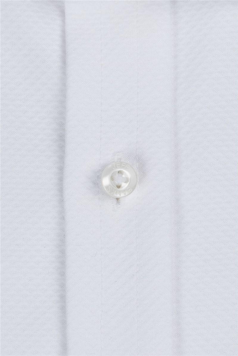 White Marcella Placket Front Regular Fit Shirt