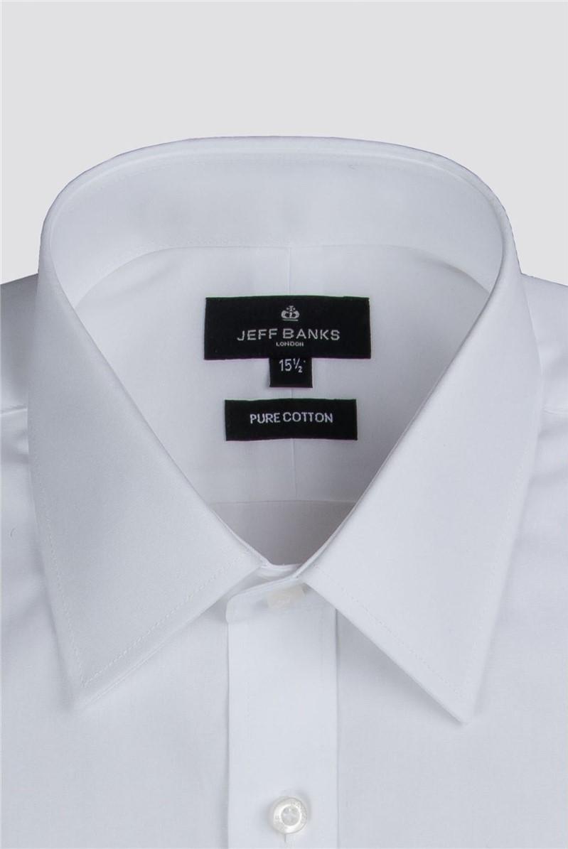 White Easy Care Poplin Regular Fit Shirt