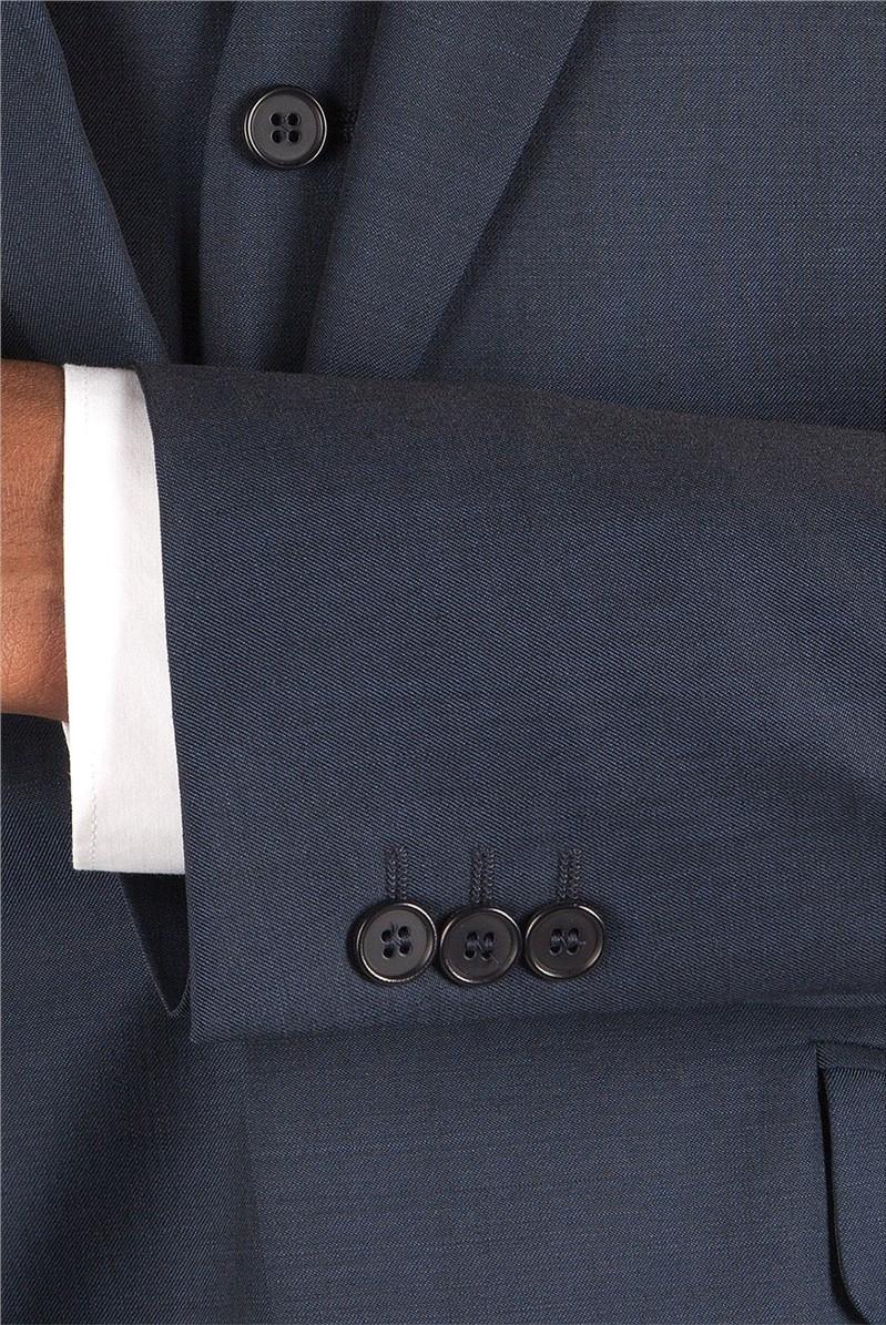 Blue Twill Suit Jacket