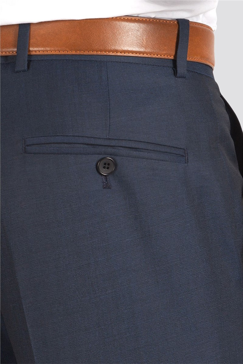 Blue Twill Suit Trousers