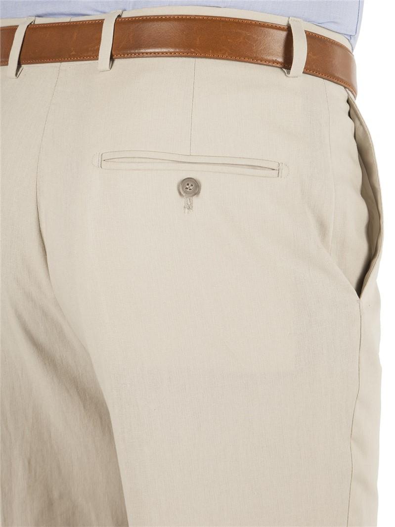 Stone Linen Suit Trouser