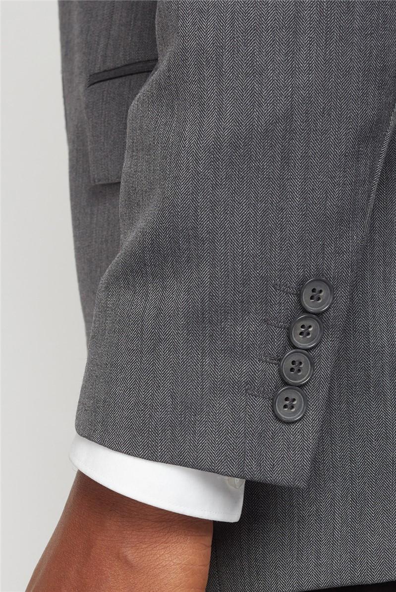 Grey Herringbone Jacket