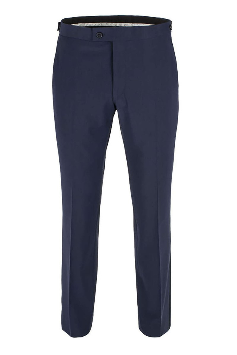 Stvdio Navy Plain Tailored Fit Dresswear Suit Trouser