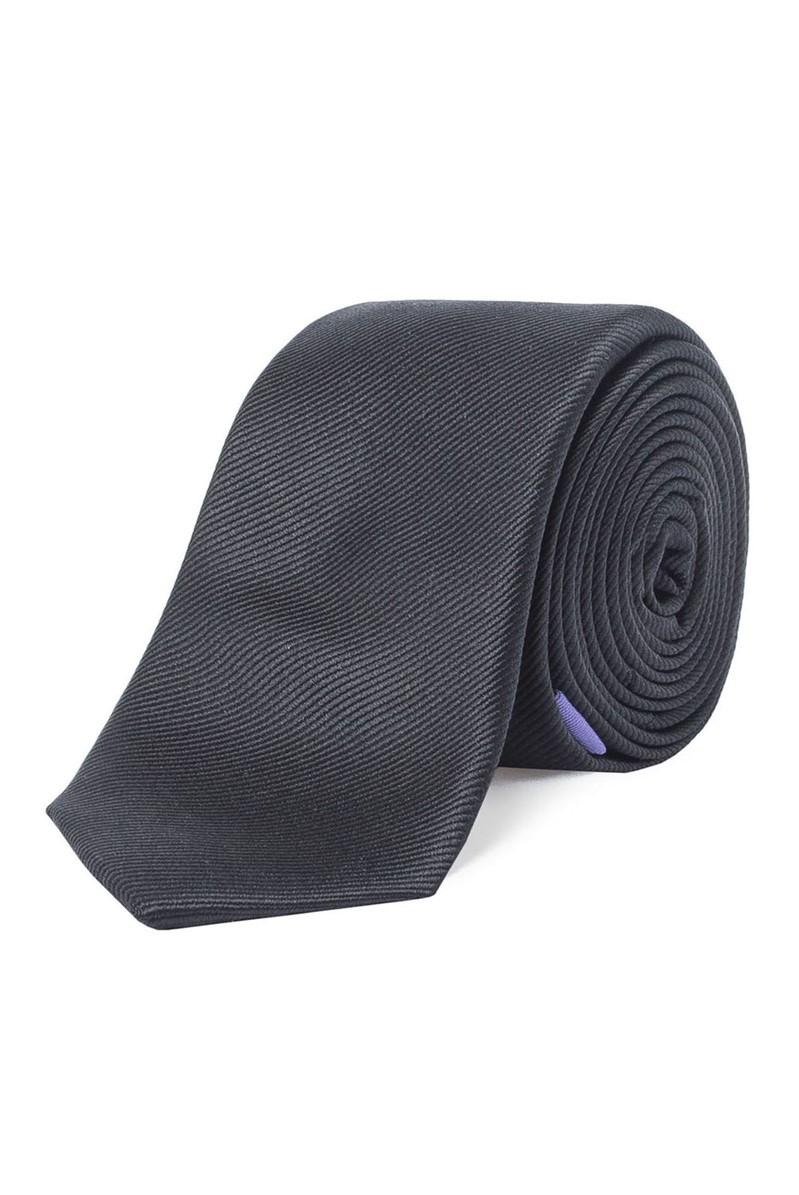 Stvdio Silk Plain Black Tie