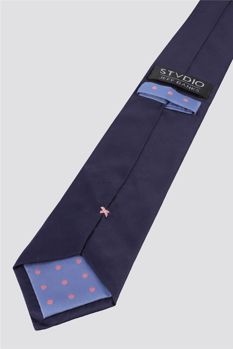 Stvdio Navy Silk Tie