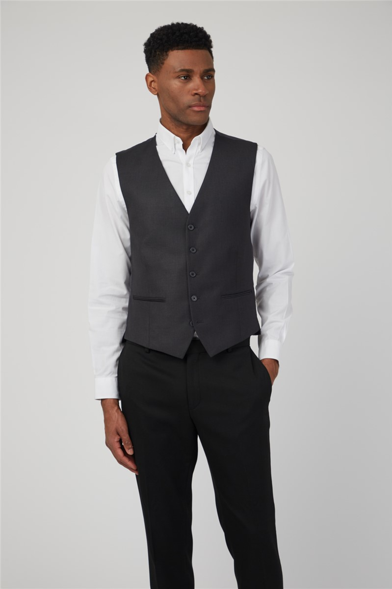 Charcoal Twill Slim Fit Suit