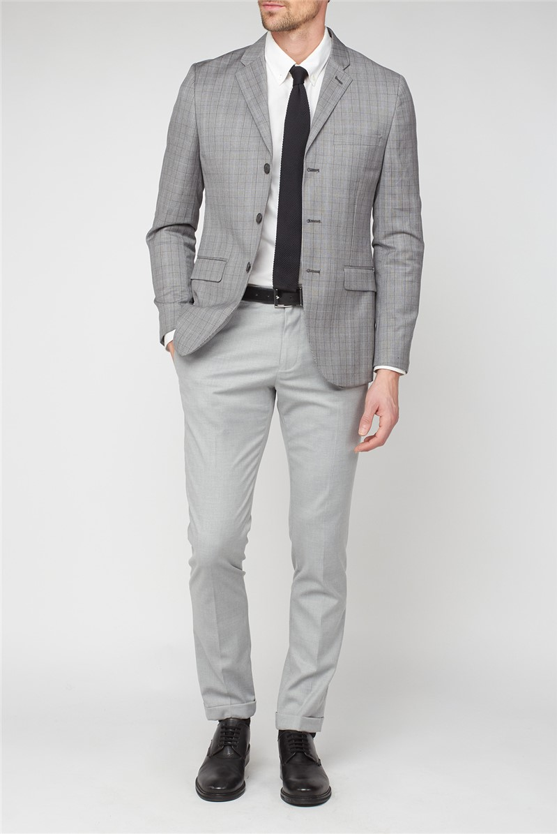 Grey Teal Check Jacket