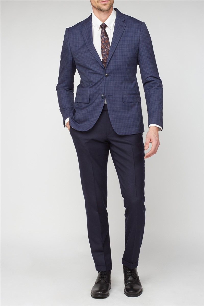 Blue Check Tailored Jacket