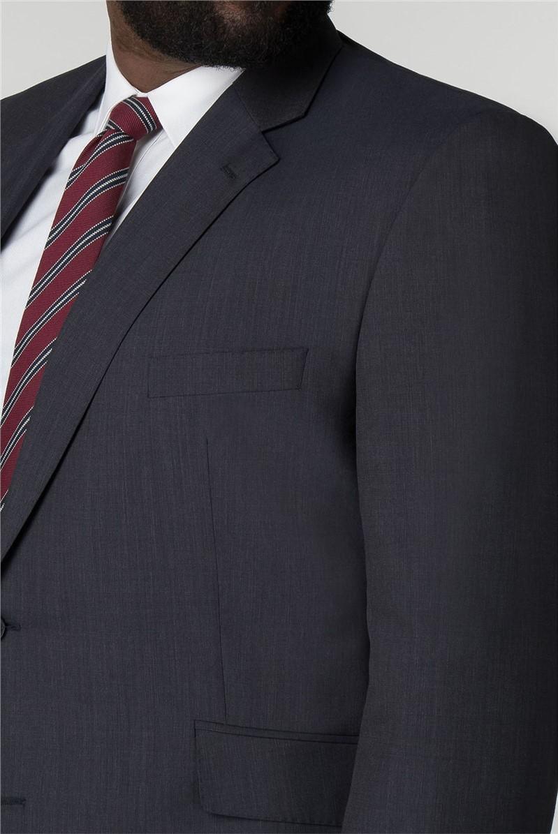Navy Semi Plain Trouser Regular Fit Suit