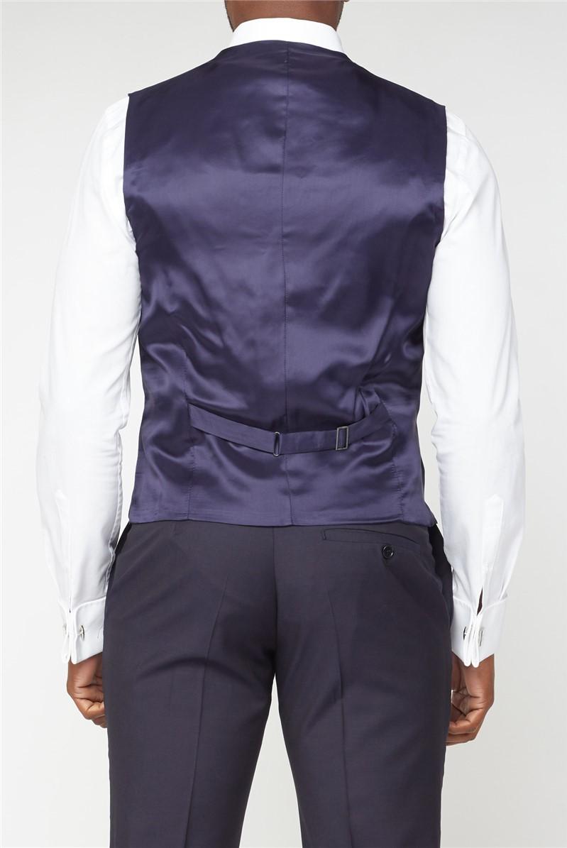 Navy Panama Waistcoat