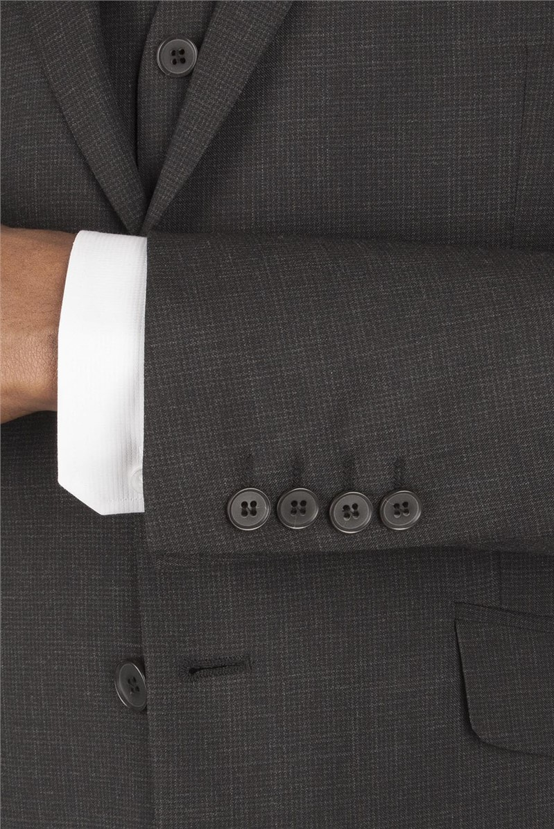 Grey Puppytooth Tailored  Fit Suit