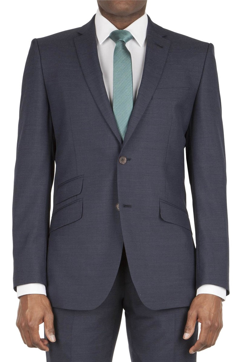 Navy Puppytooth Tailored  Fit Suit