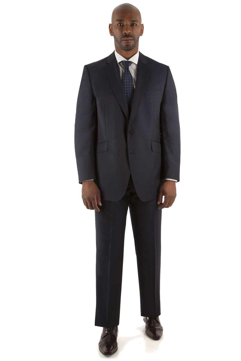 Navy Fine Stripe Regular Fit Trouser