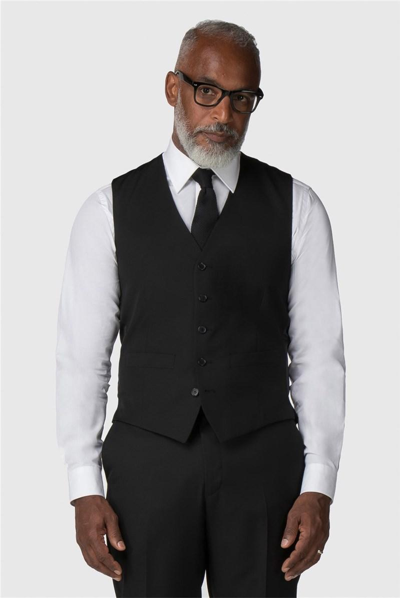 Performance Black Twill Regular Fit Suit