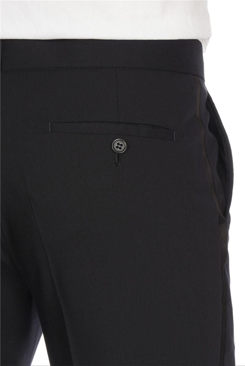 Studio Navy Plain Tailored Fit Dinner Suit Trouser