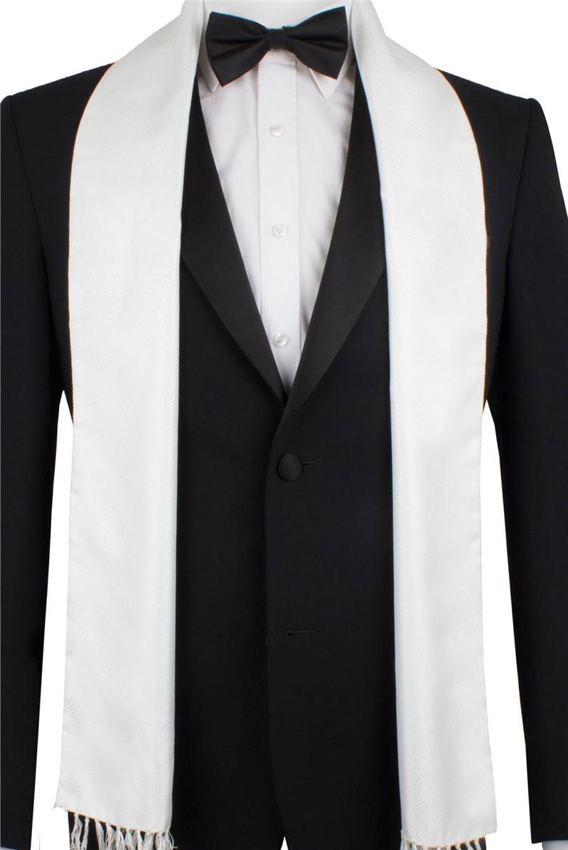 White Jacquard Dress Scarf