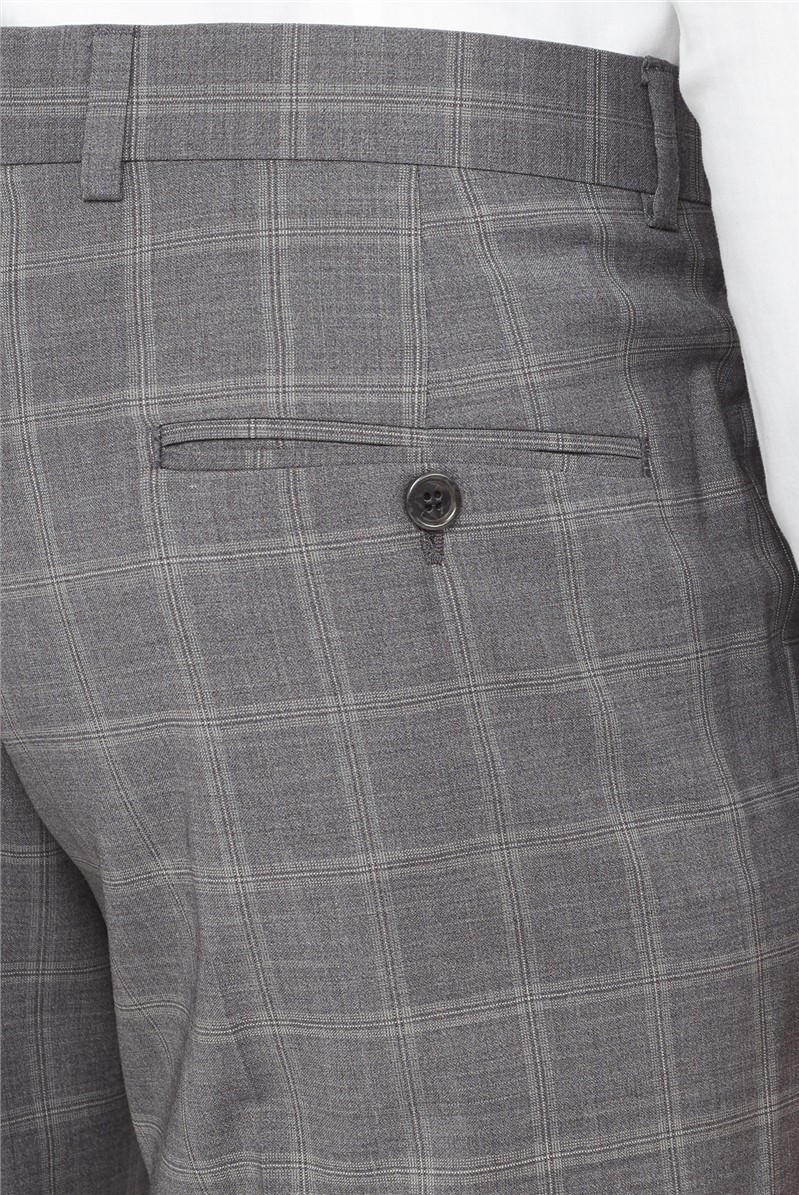 Crosswall Grey Check Tailored Fit Trouser