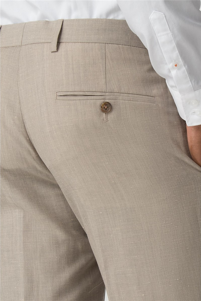 Oatmeal Linen Wool Blend Tailored Fit Suit