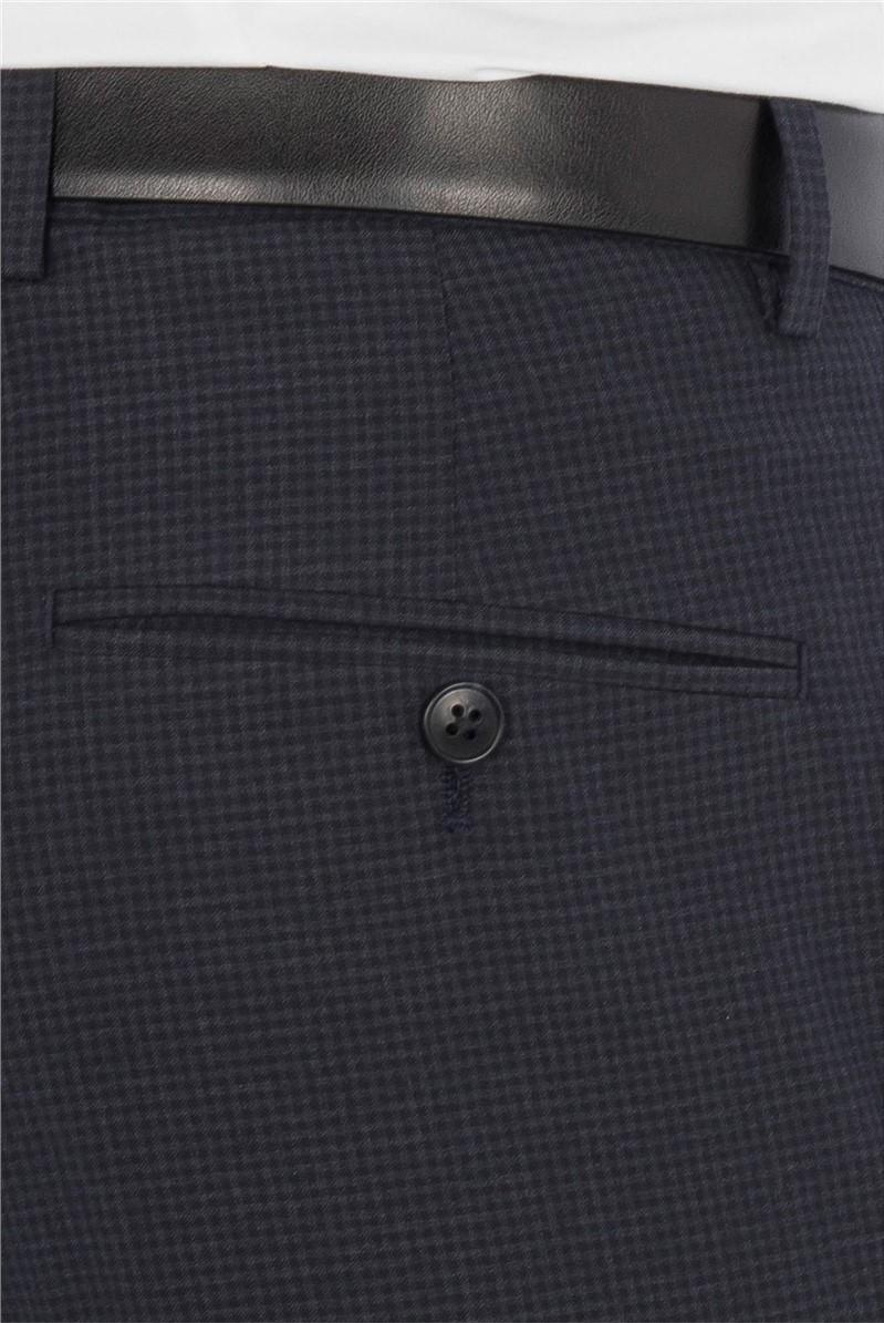 Slate Blue Gingham Suit