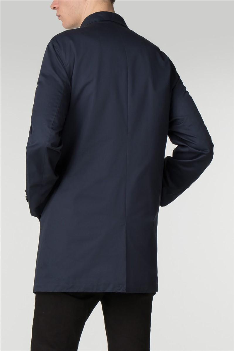 Navy Cotton Mac