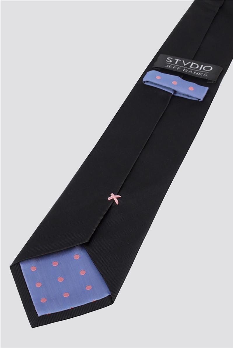 Stvdio by  Black Silk Tie
